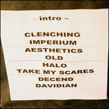 Click image to view show info: The setlist from Pomona, CA 2007