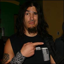 Click image to view show info: Robb Flynn backstage in Las Vegas 2007