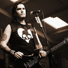 Click image to view show info: Robb Flynn at Balmoral Hall in Belfast, Ireland 2007.