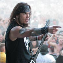 Click image to view show info: Robb Flynn on stage in San Bernardino 2008